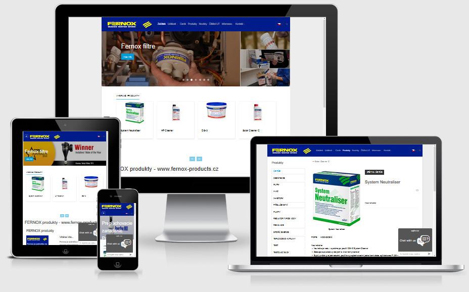 Internetová prezentácia fernox-products.sk