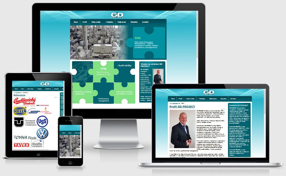 Internetová prezentácia gdproject.sk