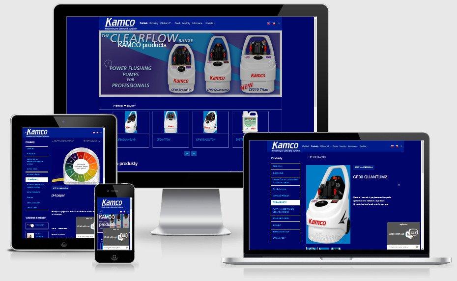 Internetová prezentácia kamco-products.sk