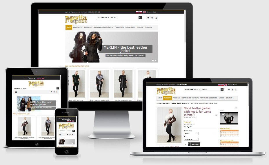 Internetový obchod merlin-leather.com