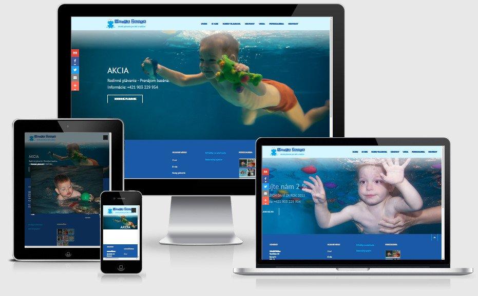 Internetová prezentácia modrazabka.sk