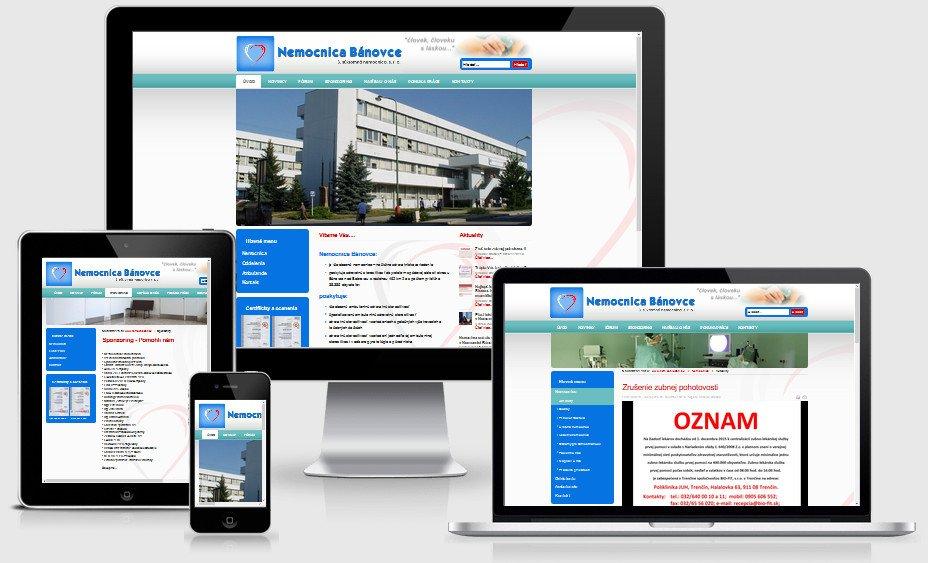Internetová prezentácia nemocnicabn.sk