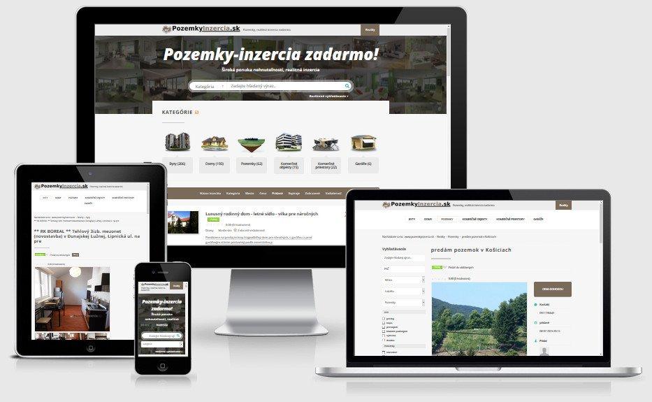 Internetový portál pozemkyinzercia.sk