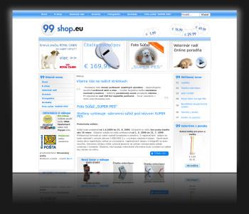 Internetový obchod a prezentácia 99.shop.eu