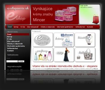Internetový obchod E-elegancia.sk