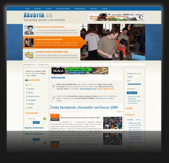Internetový portál www.akvaria.sk