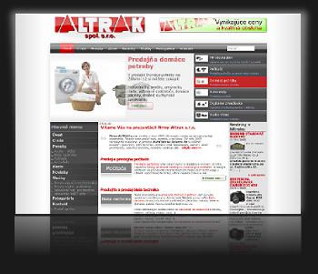 Internetová prezentácia www.altrak.sk