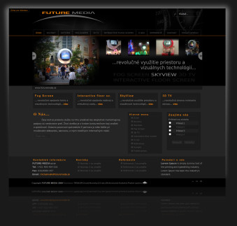Internetová prezentácia www.futuremedia.sk