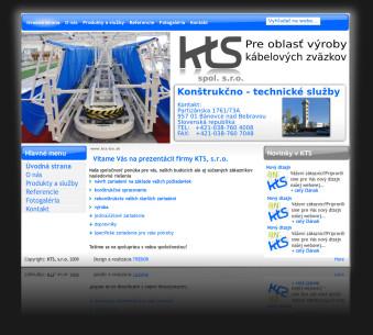 Internetová prezentácia www.kts-bn.sk