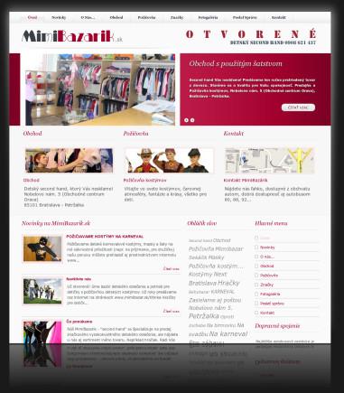 Internetová prezentácia www.mimibazarik.sk