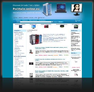 Dizajn pre internetový obchod www.pocitace-online.eu
