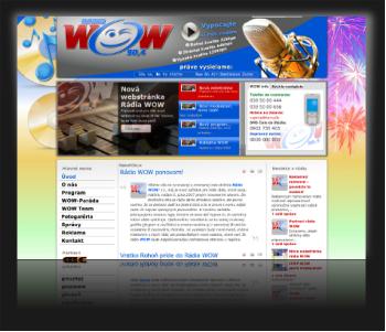 Internetová prezentácia Rádio WOW