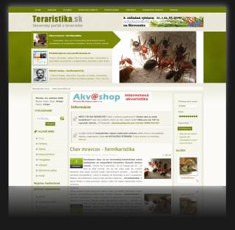 Internetový portál www.teraristika.sk